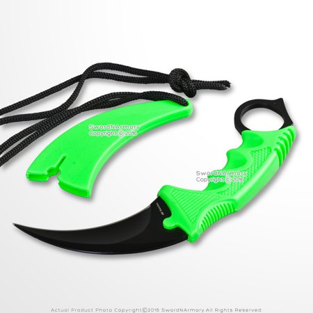 CS Go Counter Strike Doppler Combat Karambit Neck Knife Zombie Claw Fixed Blade Bear Claw Neck Knife
