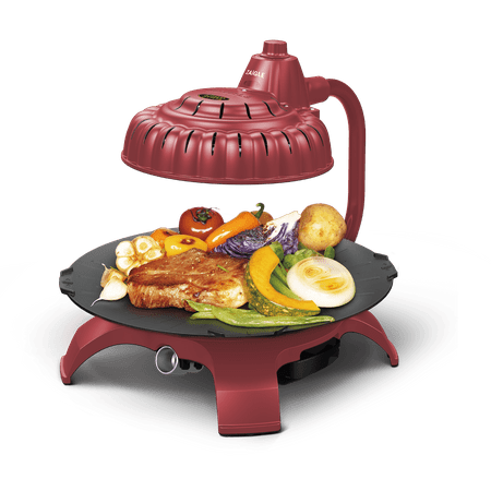 Infrared Pan (Zaigle ZG-HU375 Handsome Infrared KBBQ Electric Grill, 120v, 3 pans, tongs)