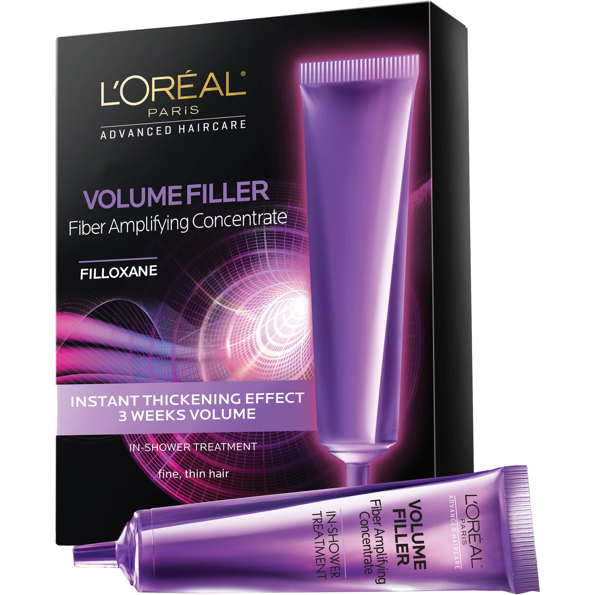 L'Oreal Paris Advanced Haircare Volume Filler Fiber Amplifying Concentrate, 3 count