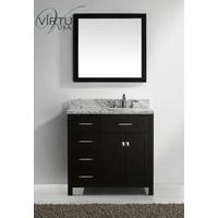 Virtu Caroline Parkway 37'' Single Bathroom Vanity Set with Mirror
