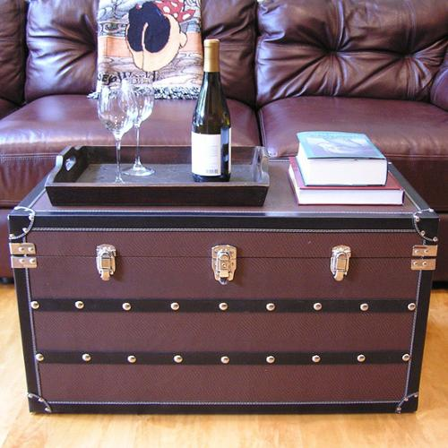 Styled Shopping Inc Decorative Sterling Large Wood Steamer Trunk Wooden Treasure Hope Chest