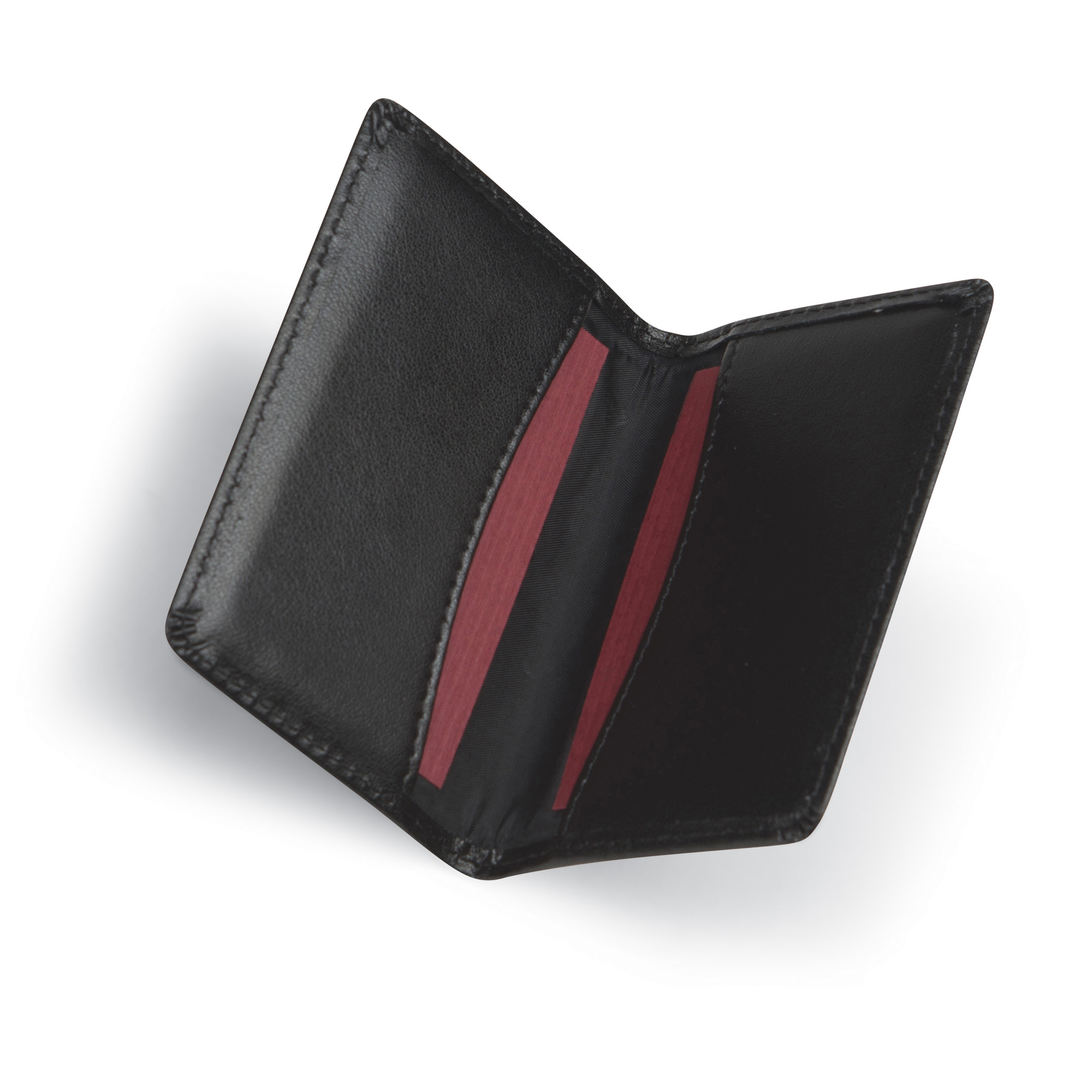 Samsill Regal Leather Business Card Holder, Holds 25 Cards, Black ...