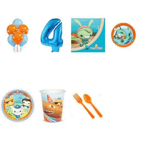Octonauts Party Supplies Party Pack For 32 With Blue #3 Balloon](Octonauts Birthday Party)