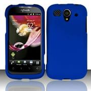 Hard Rubberized Case for Huawei myTouch U8680 - Blue