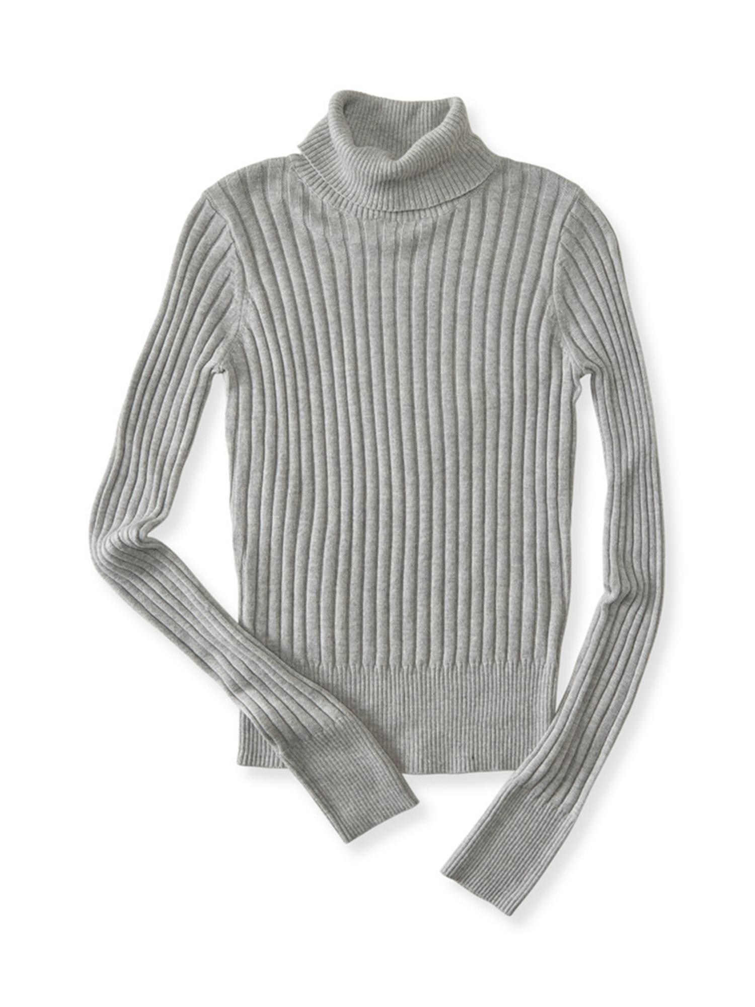 Aeropostale Juniors Ribbed Turtleneck Knit Sweater