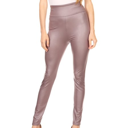 13b1adfea3e790 Sakkas - Sakkas Matte Liquid High Waist Stretch Leggings - Made in USA -  Pewter - XL - Walmart.com