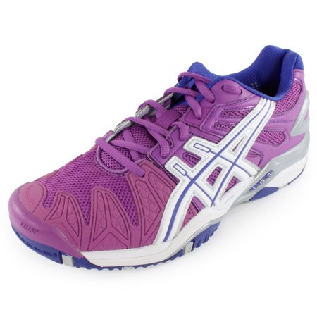 Women`s Gel Resolution 5 Tennis Shoes Grape and White