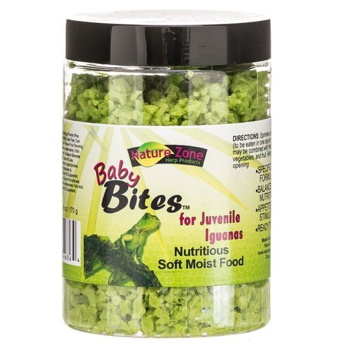 Nature Zone Ready-to-Eat Baby Bites for Juvenile Iguanas 6 Ounce