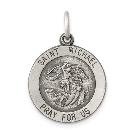 925 Sterling Silver Saint Michael Medal Pendant Charm Necklace Religious Patron St Gifts For Women For Her mothers day gifts mom wife (Saint Michael Medal Pendant)