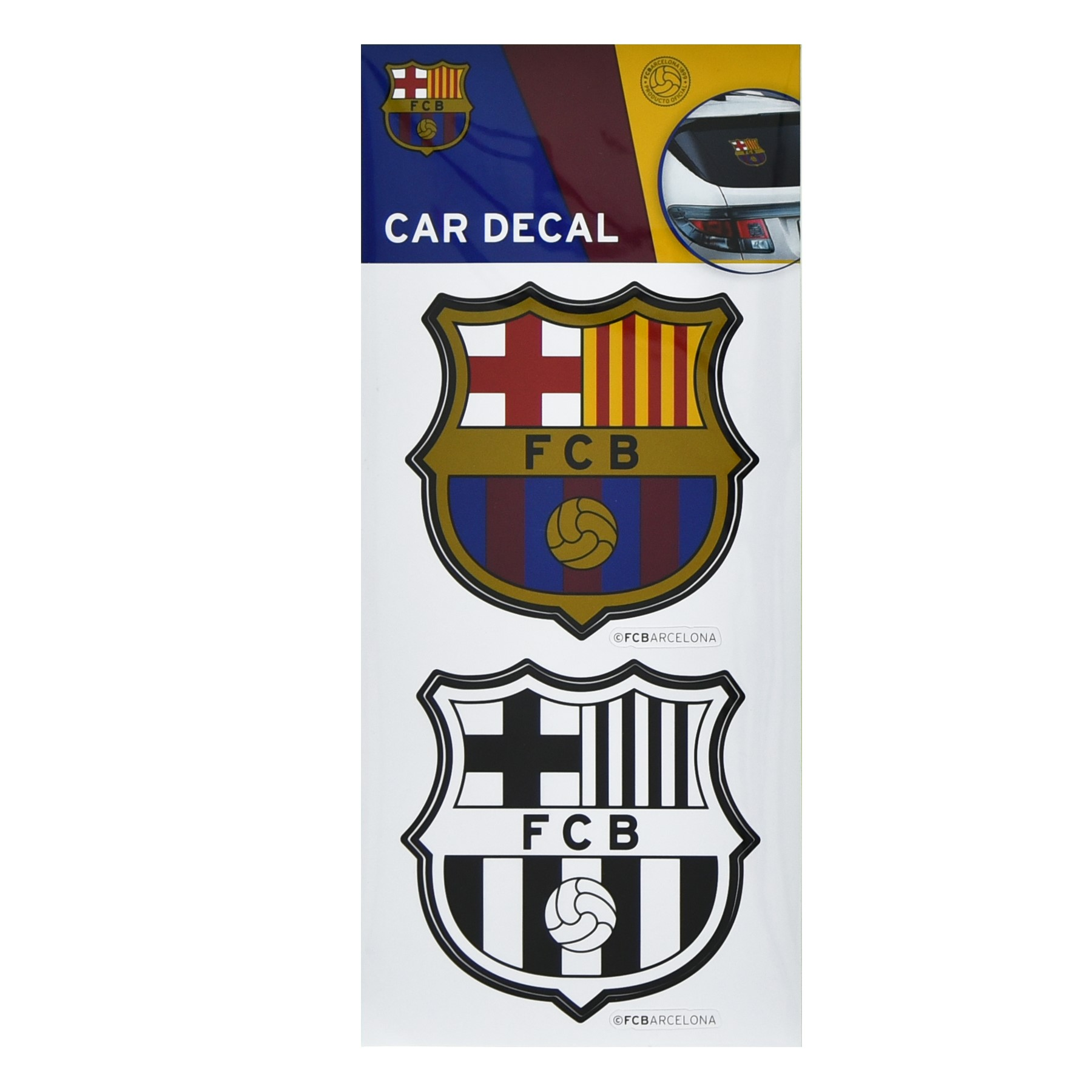 Barcelona Car Decals by Maccabi Art