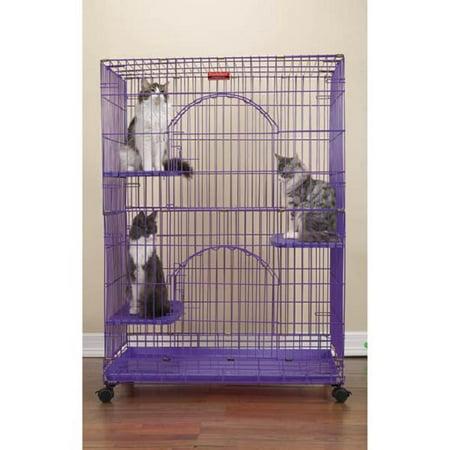 Proselect Purple Foldable Cat Cage Walmartcom