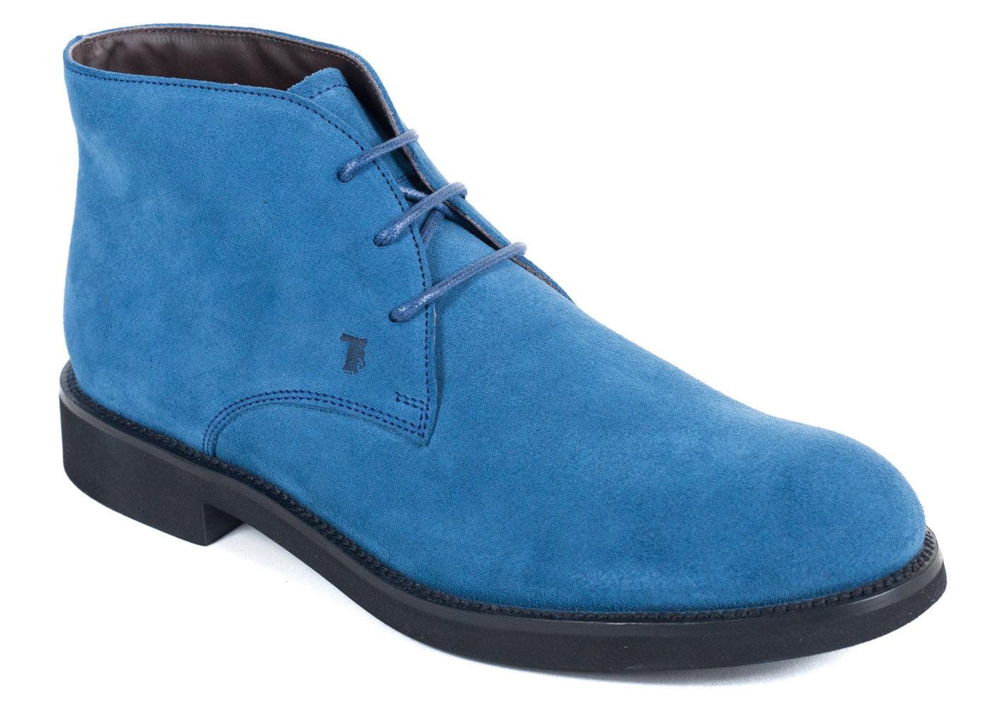 40ea9b0e2 Tod s - Tods Mens Ocean Blue Suede Desert Ankle Boots - Walmart.com
