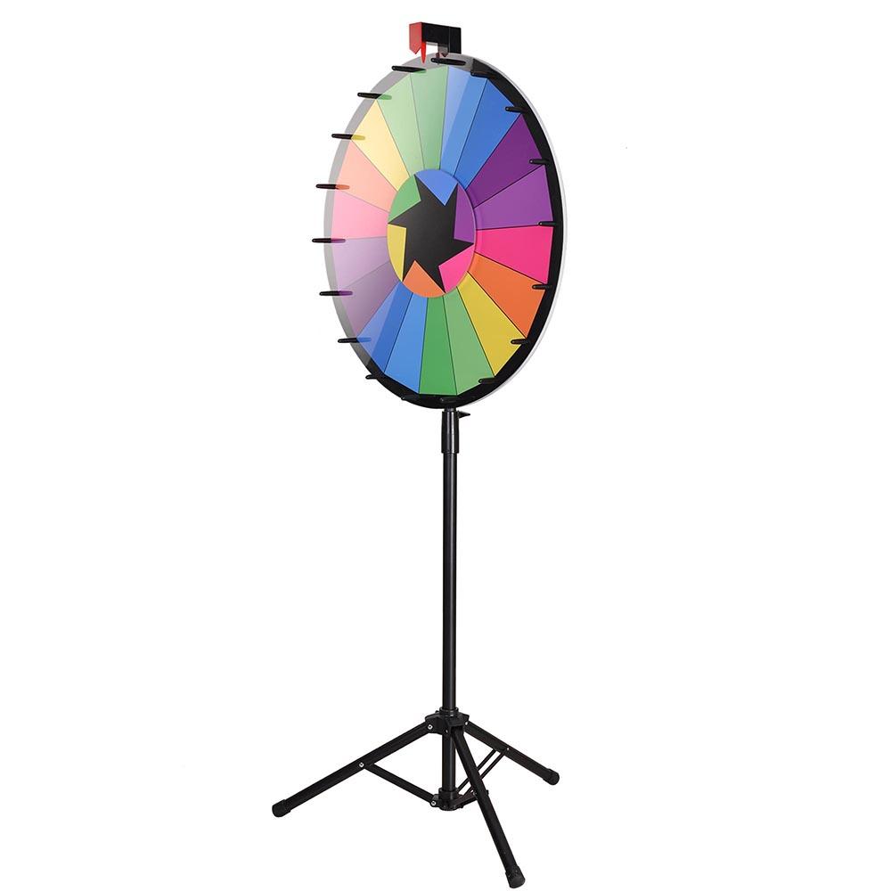 "WinSpin; 24"" Editable Color Prize Wheel of Fortune 18 Slo..."