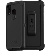 OtterBox Defender Series Case & Belt Clip Holster for Samsung Galaxy A20, Black