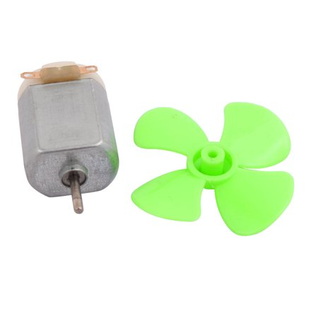 DC 6V 0.13A 13500RPM Strong Force Motor 4 Vanes Green Propeller 40mmx2mm - image 4 of 5