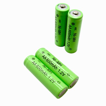 Solar Light AA Ni-MH 600mAh Rechargable Batteries (Pack of