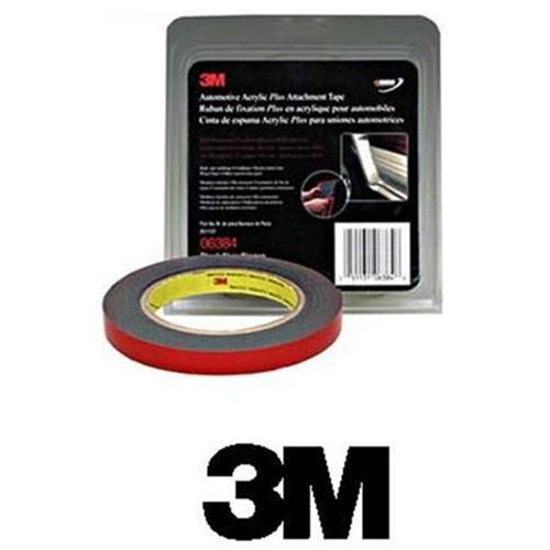 3m 06384 Automotive Acrylic Plus Attachment Tape Black 1