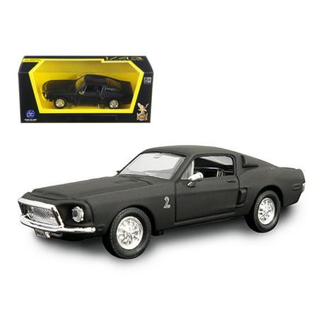 - 1968 Ford Shelby Mustang GT 500 KR Matt Black 1/43 Diecast Model Car by Road Signature