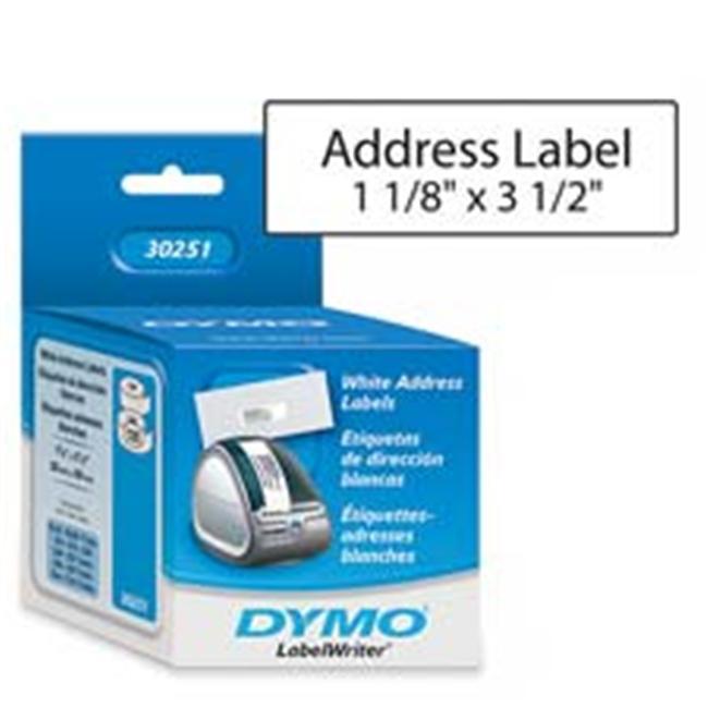 Dymo Corporation DYM30251 Address Labels- 3-. 50inchx1-. 13inch- White