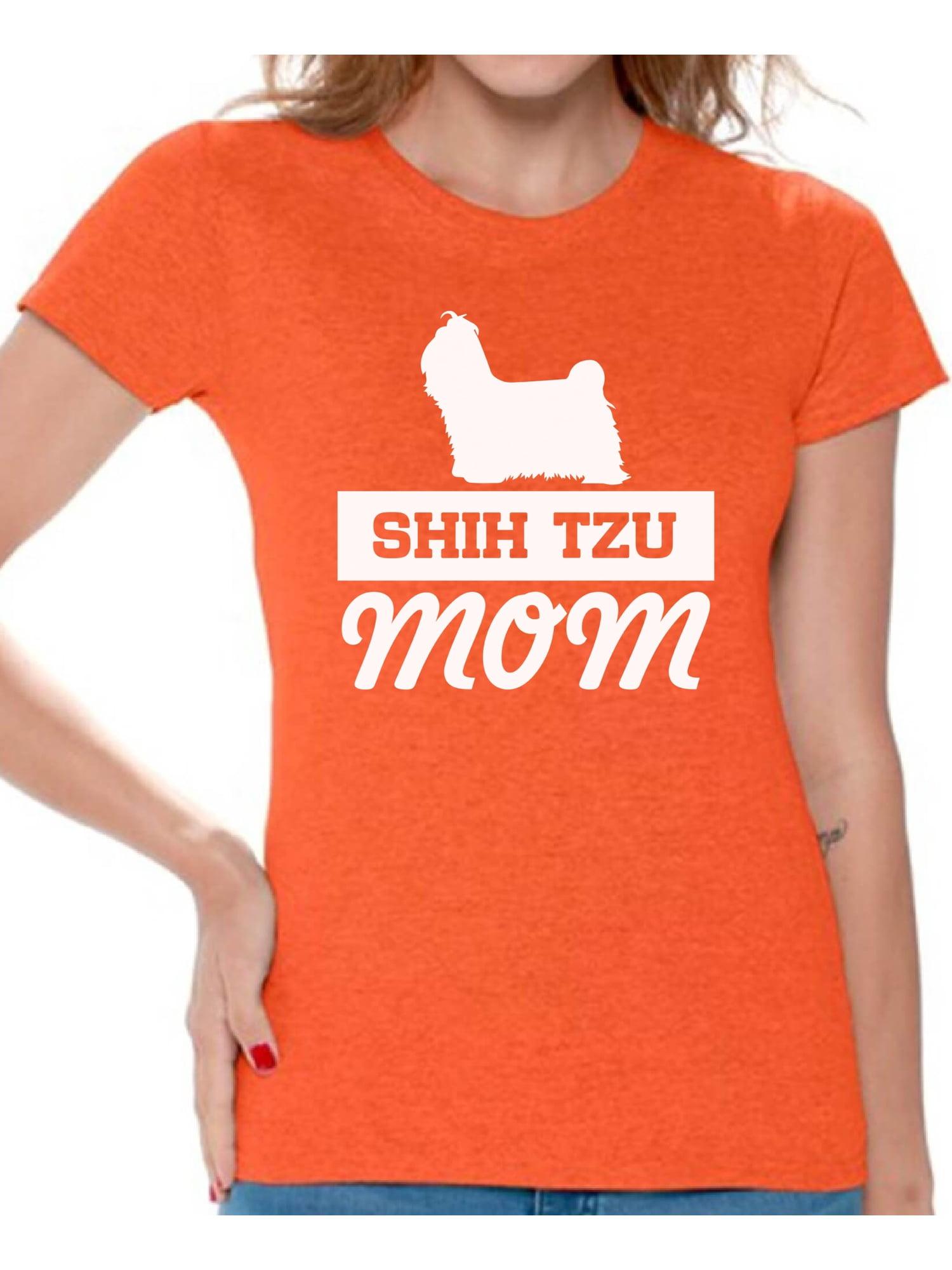 Awkward Styles Womens Shih Tzu Mom Graphic Hoodie Tops Funny Little Lion Mom