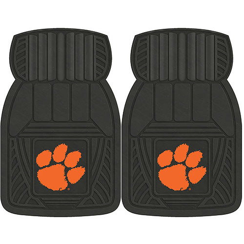 NCAA 2-Piece Heavy-Duty Vinyl Car Mat Set, Clemson University