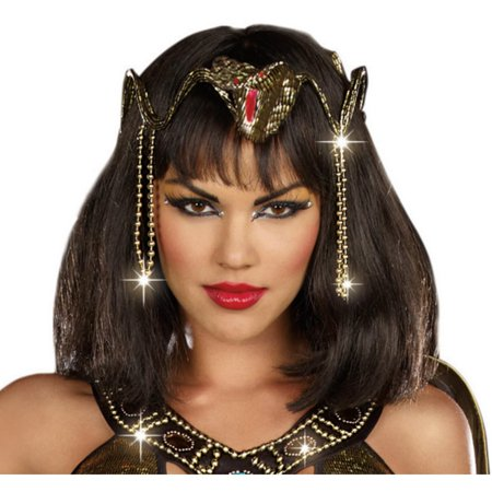 Gold Snake Crown - One-Size - Snake Charmer Costume
