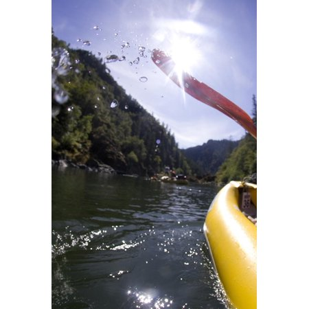 White Water Rafting Along the Wild and Scenic Rogue River in Southern Oregon Print Wall Art By Justin Bailie ()