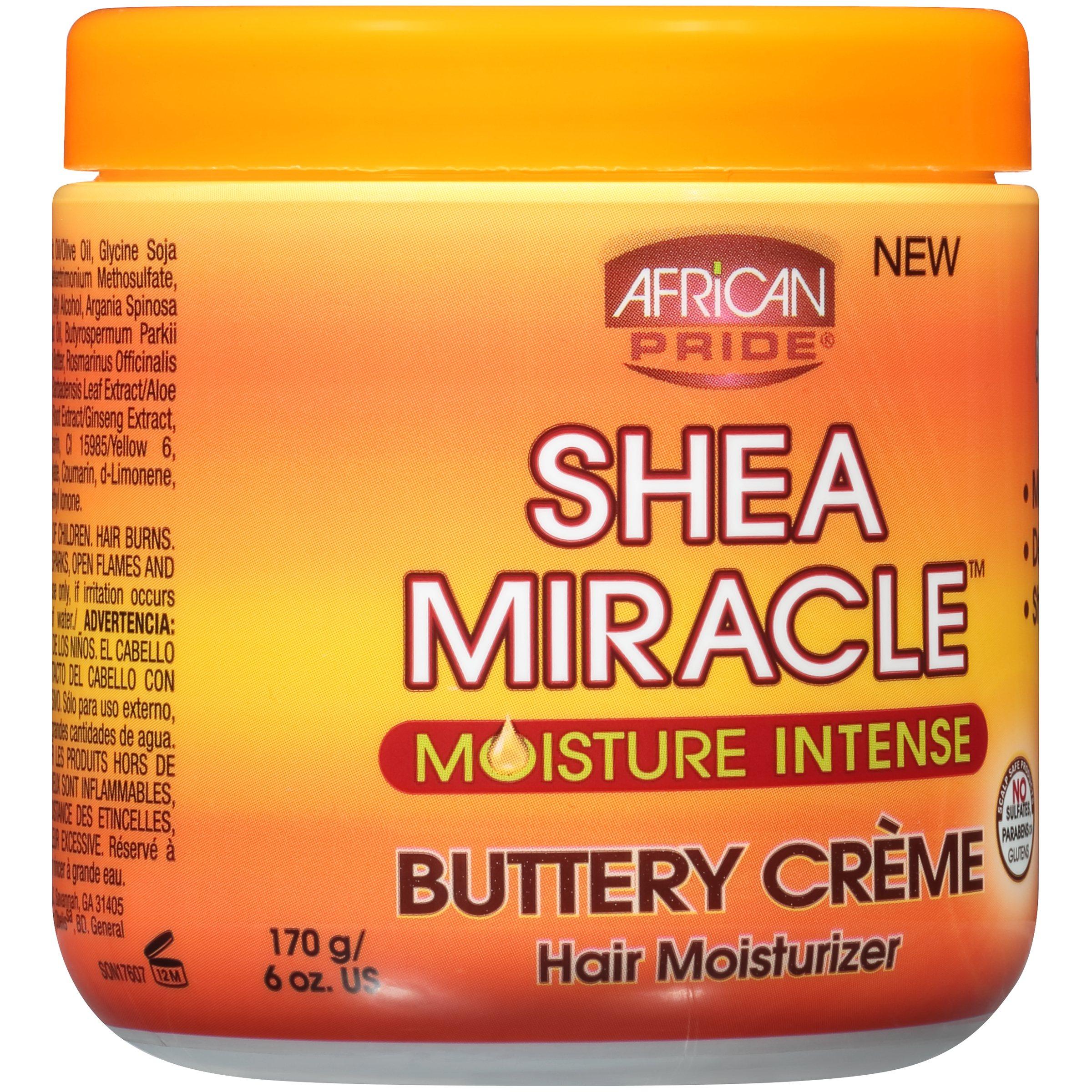 African Pride® Shea Miracle™ Moisture Intense Buttery Creme Hair Moisturizer 6 oz. Jar