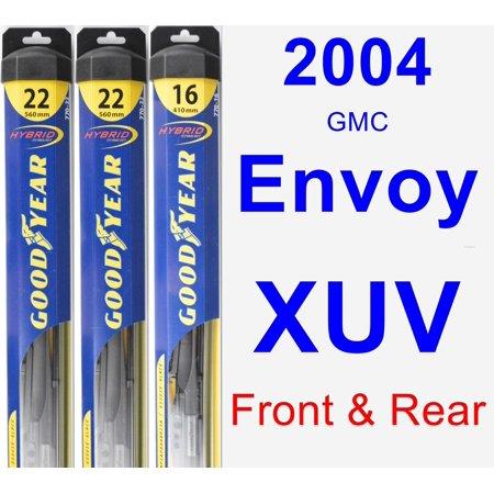 2004 GMC Envoy XUV Wiper Blade Set/Kit (Front & Rear) (3 Blades) -