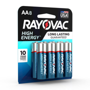 Rayovac High Energy Alkaline, AA Batteries, 8 Count