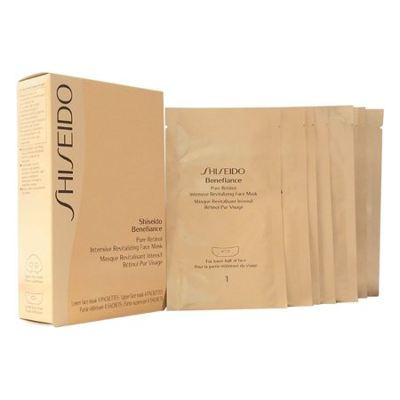 Benefiance Pure Retinol Intensive Revitalizing Face Mask by Shiseido for Unisex - 4 Pairs