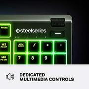 SteelSeries Apex 3 RGB Gaming Keyboard – 10-Zone RGB Illumination – IP32 Water Resistant – Premium Magnetic Wrist Rest