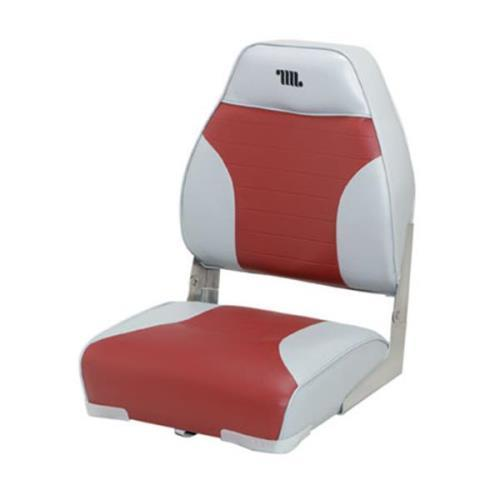 Wise Mid - Back Fold - Down Boat Seat Gray / Red