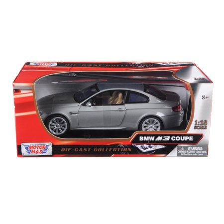 BMW M3 E92 Coupe Gray 1/18 Diecast Model Car by Motormax Bmw M3 Coupe Car