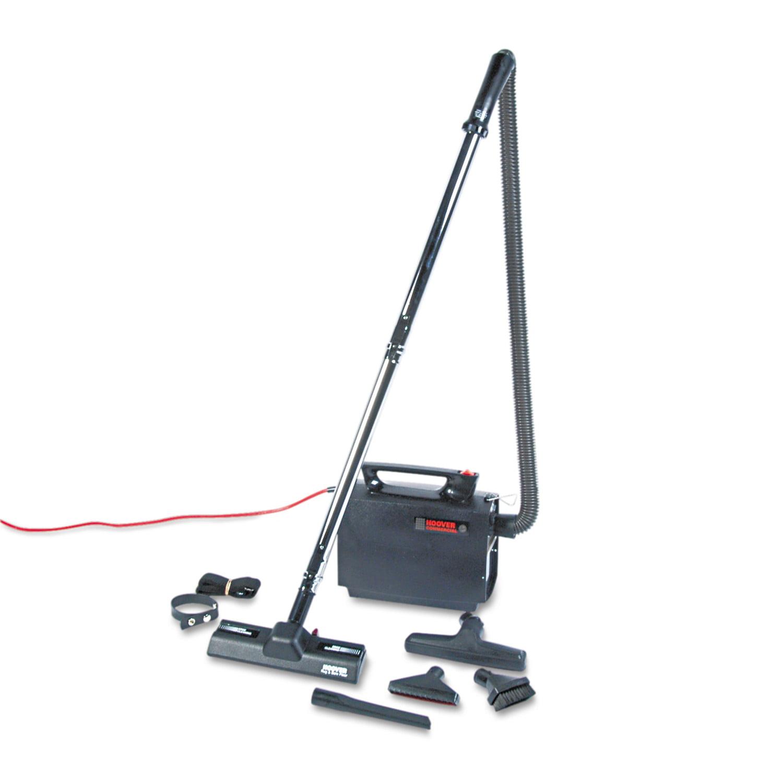 Hoover Commercial Portapower Lightweight Vacuum Cleaner, 8.3lb, Black