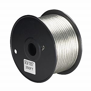 Satco 20/2 PLT 105 Degree C Wire 250 Ft Spool Clear Silver
