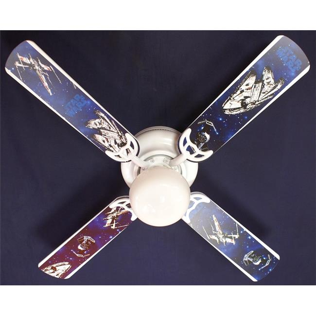 Ceiling Fan Designers 42FAN KIDS SW2 42 In. Star Wars Spaceships Millennium  Falcon