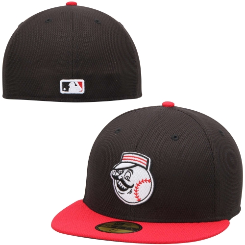 Men's New Era Black/Red Cincinnati Reds On Field Diamond Era 59FIFTY Fitted Hat