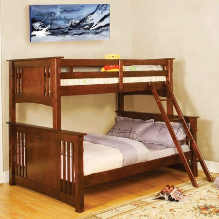 Furniture Of America Pabla Mission Style Twin Over Full Bunk Bed