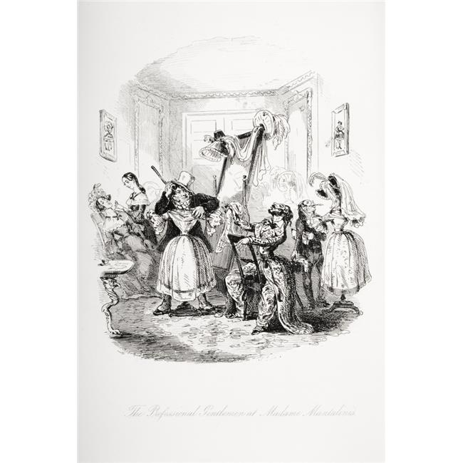The Professional Gentleman At Madame Mantalinis. Illustration From the Charles Poster Print, 24 x 36 - image 1 of 1