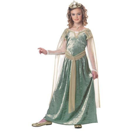 Girls Queen Guinevere Medieval Halloween Costume](Girls Queen Costume)