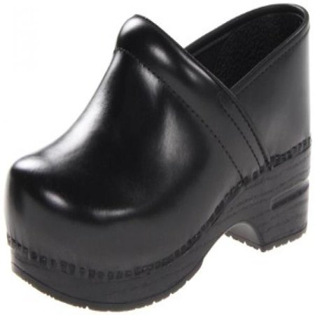 Dansko Men's Professional Leather Men's Black Cabrio Leather Clog/Mule 45 (US Men's 11.5-12) Wide