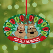 Personalized Our Deer Grandkids Oval Christmas Ornament