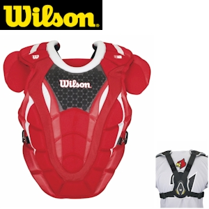 Wilson ProMOTION Baseball Chest Protector - 18in Adult - Scarlet