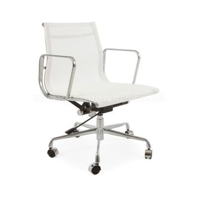 Modern Style Modern High back Mesh Chair with w/Tilt Adjustable seat Executive Office Chair Work Task Computer Executive -Low Back