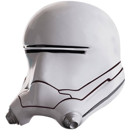 Star Wars: The Force Awakens Mens Flametrooper Half Helmet Halloween Accessory, One Size (Half And Half Halloween Makeup)