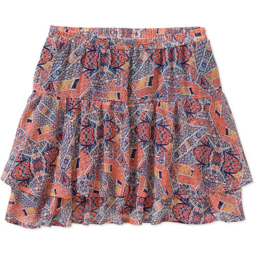Derek Heart Juniors' Printed Double Layer Mini Skirt