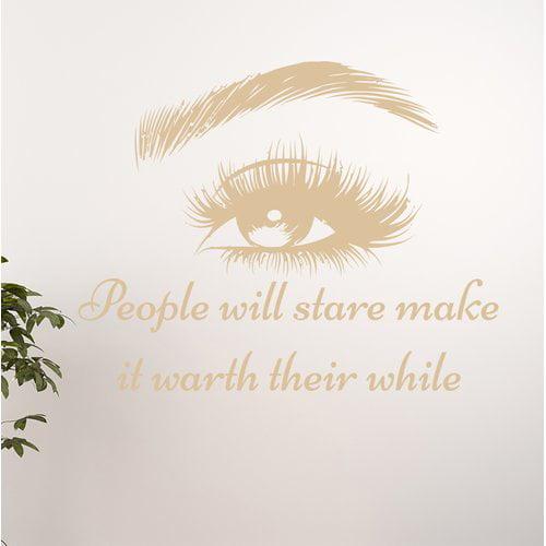 Harriet Bee Eye Cosmetic Make Up Art Wall Decal
