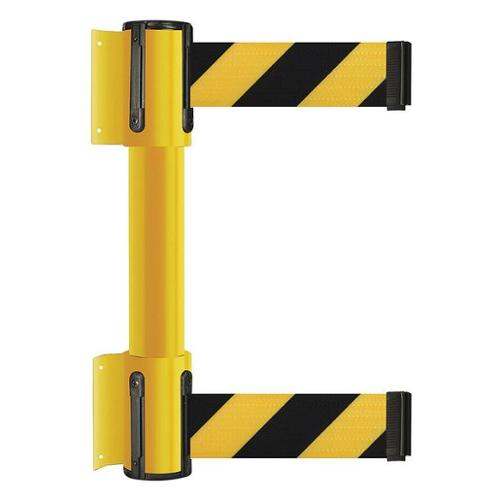 TENSATOR 896T2-35-STD-D4X-C Belt Barrier, Black w/Yellow Horizontal