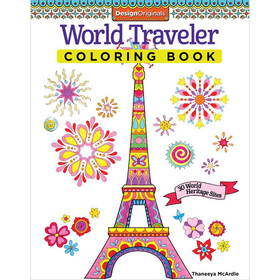 Design Originals World Traveler Adult Coloring Book